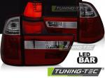 LED zadní světla BMW X5 E53 červeno-kouřové provedení
