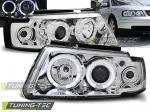 Přední světla chrom Angel Eyes Volkswagen Passat 3B