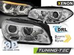 Přední LED dynamická světla angel eyes s denními světly BMW F10/F11 chrom
