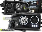 Přední světla angel eyes CCFL Dodge Charger LX černá