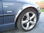 Chromové lemy blatníků Fiat Doblo II facelift