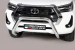 Nerezový přední ochranný rám 76mm Toyota Hilux VIII 2020 facelift