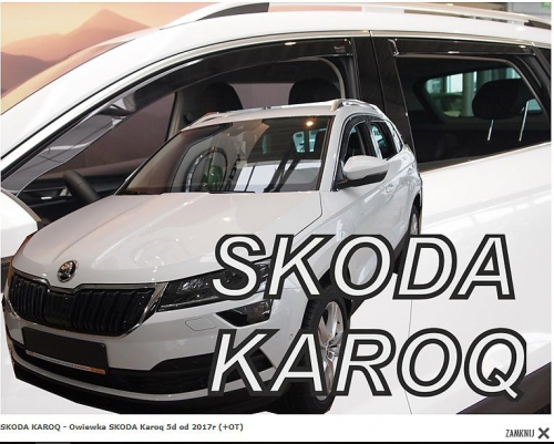 Deflektory <br>-ofuky oken Škoda Karoq 5D <br>- přední+zadní