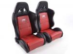 Sportovní sedačky FK Automotive Dallas červené
