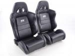 Sportovní sedačky FK Automotive Dallas černé