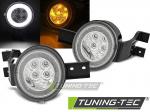 Přední blikače s LED pozičním světlem Mini Cooper R50 R53 R52 - bílé provedení