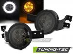 Přední blikače s LED pozičním světlem Mini Cooper R50 R53 R52 - černé provedení