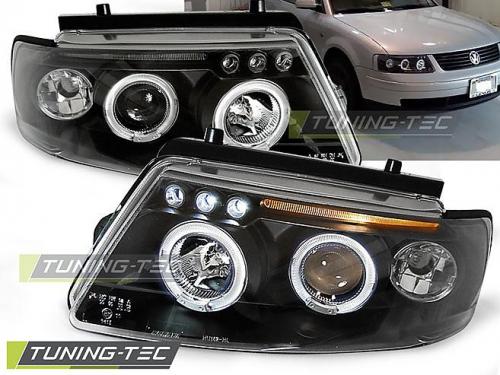 Přední světla s Angel Eyes Volkswagen Passat 3B