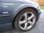 Lemy blatníků Fiat Doblo II facelift, černý mat