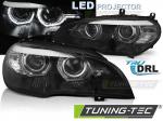 Přední LED světla ANGEL EYES DRL AFS BMW X5 E70 černá