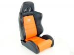 Sportovní sedačky FK Automotive Dallas oranžové