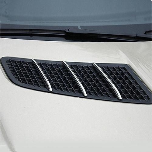 Chrom žebra nádechů kapoty Mercedes SLK R172